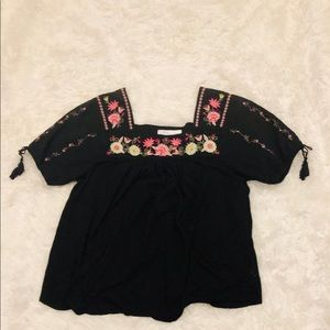 Mexican embroidery blouse size 10